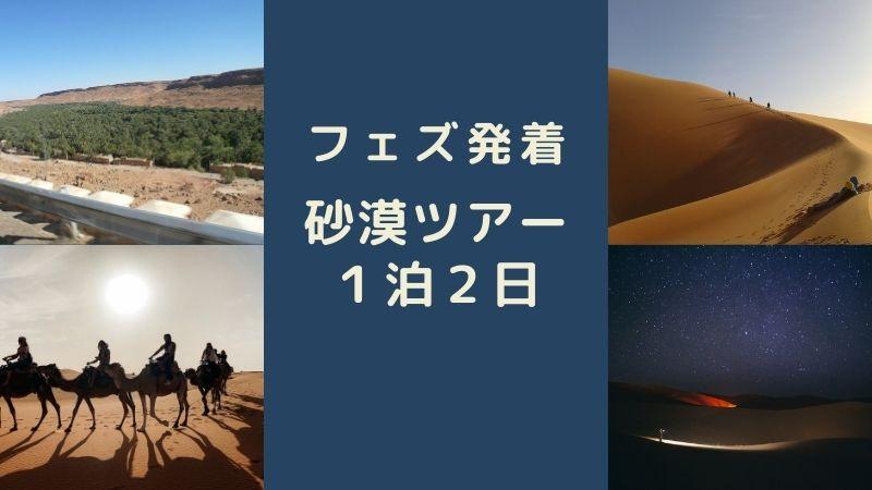 フェズ発着サハラ砂漠ツアー1泊2日