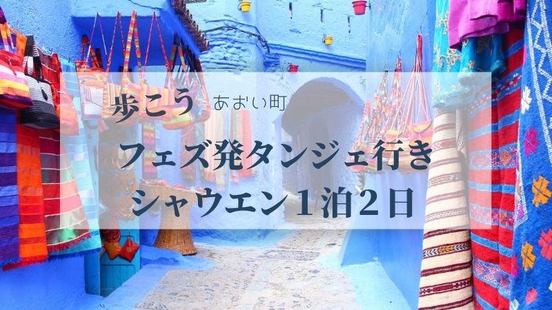 フェズ発タンジェ行きシャウエン1泊2日
