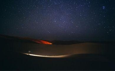 砂漠で観る満天の星空