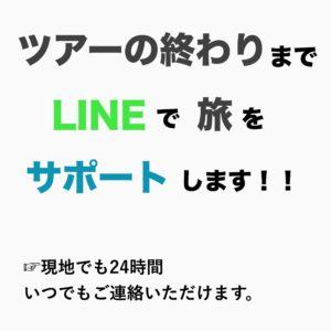 ツアーの終わりまでLINEで旅をサポートします!